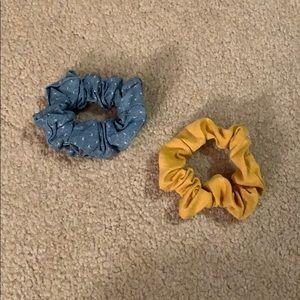 Two American Eagle scrunchies